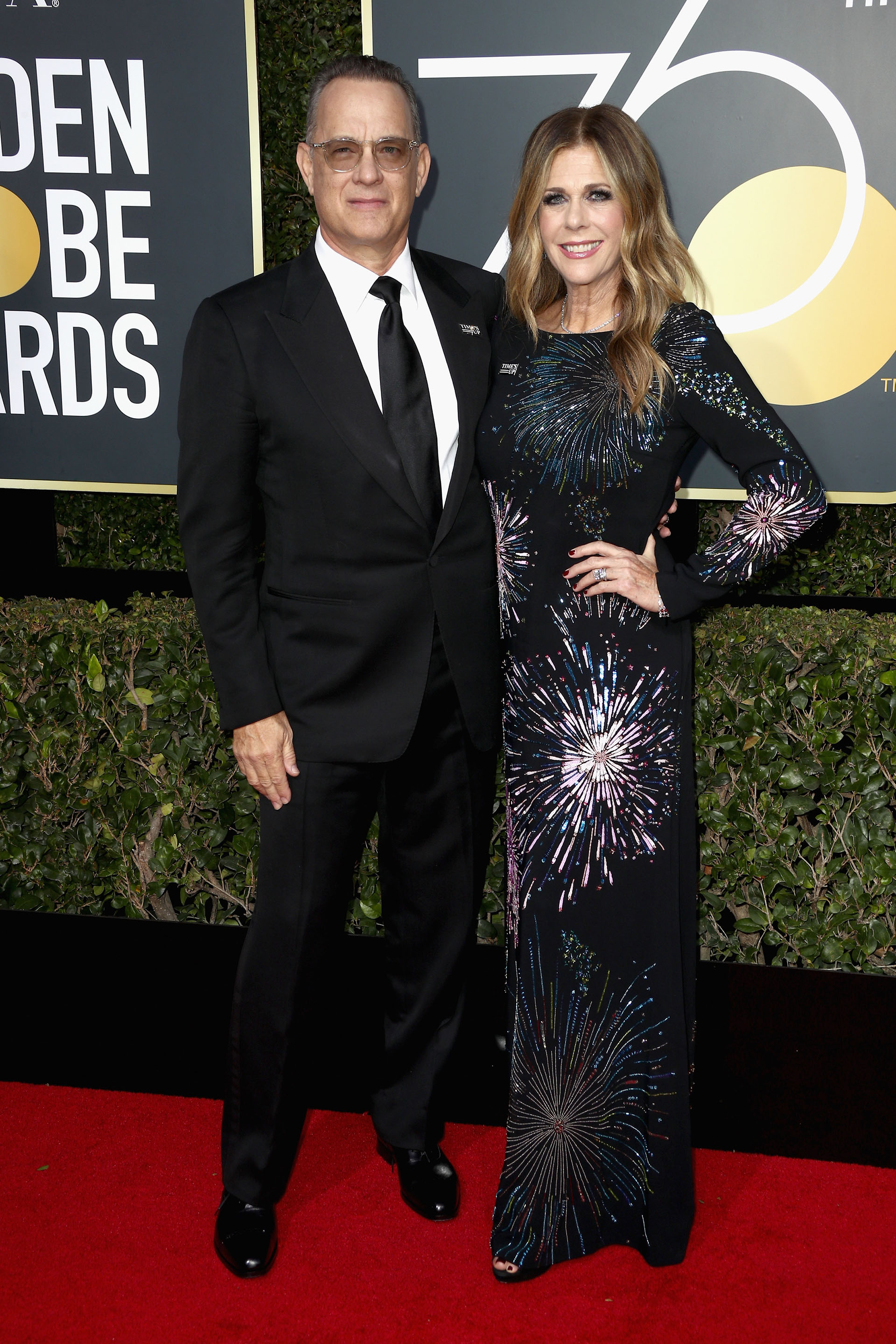 Tom Hanks y Rita Wilson (AFP)