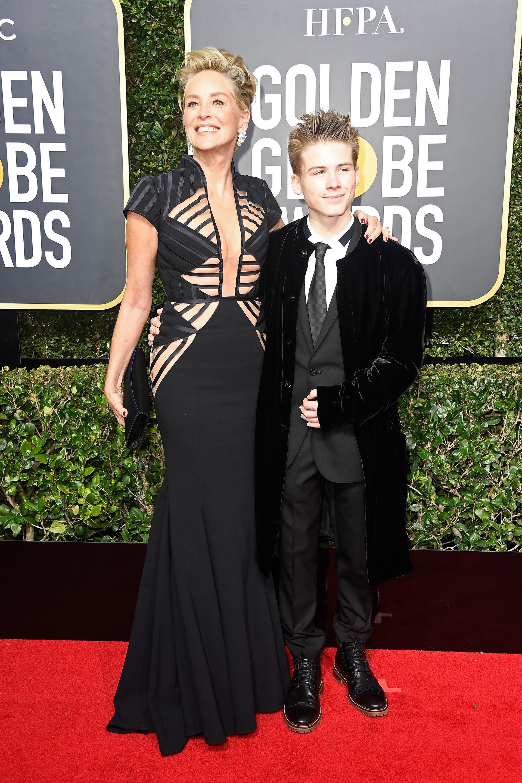 Sharon Stone y Roan Stone (AFP)