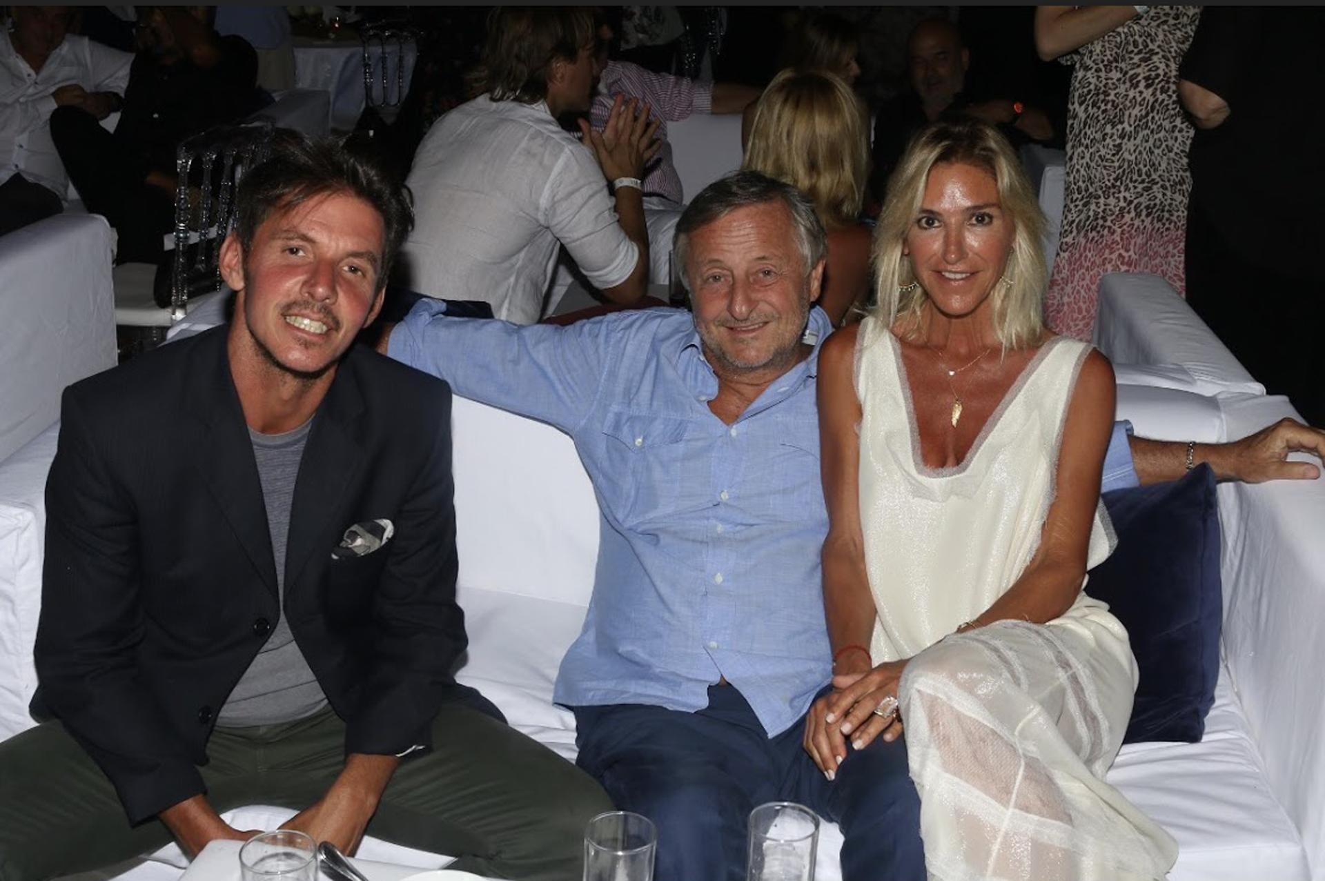 Gerard Confalonieri, Cristiano Rattazzi y Gabriela Castellani