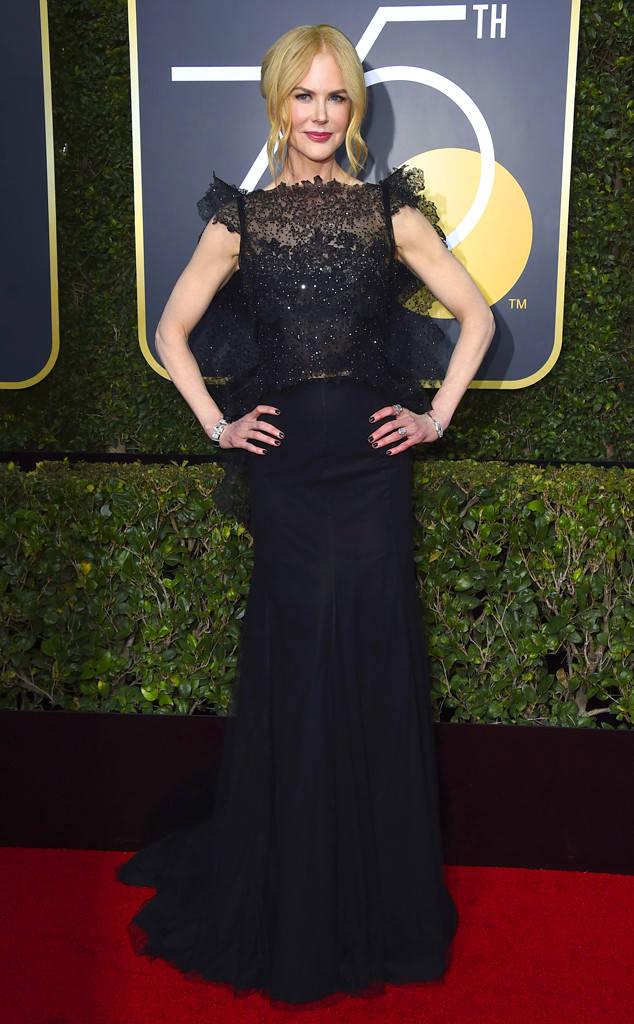 """Nicole Kidman que se llevo el premio a mejor actriz por """"Big Little Líes"""" Fotos Gentileza E!"""