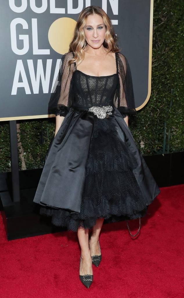 Sarah Jessica Parker con un diseño de Dolce y Gabbana. Fotos GETTY/ Gentileza E!