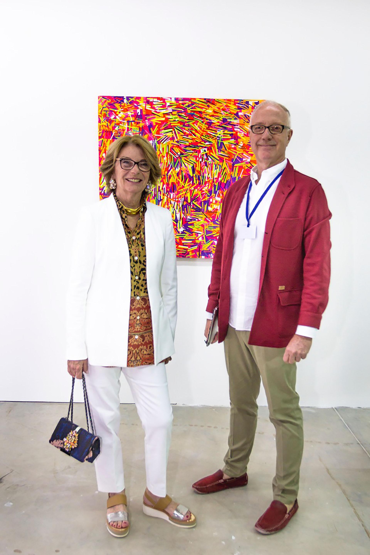 Canela Von Buch y Mauro Herlitzka de la galería Henrique Faria