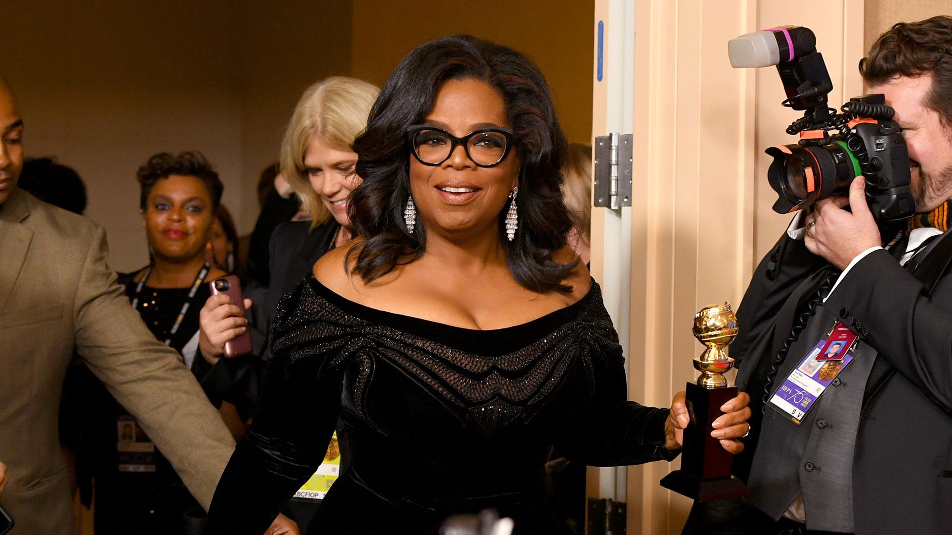 La conductora Oprah Winfrey ganó Golden Globes en su última edición (AFP)