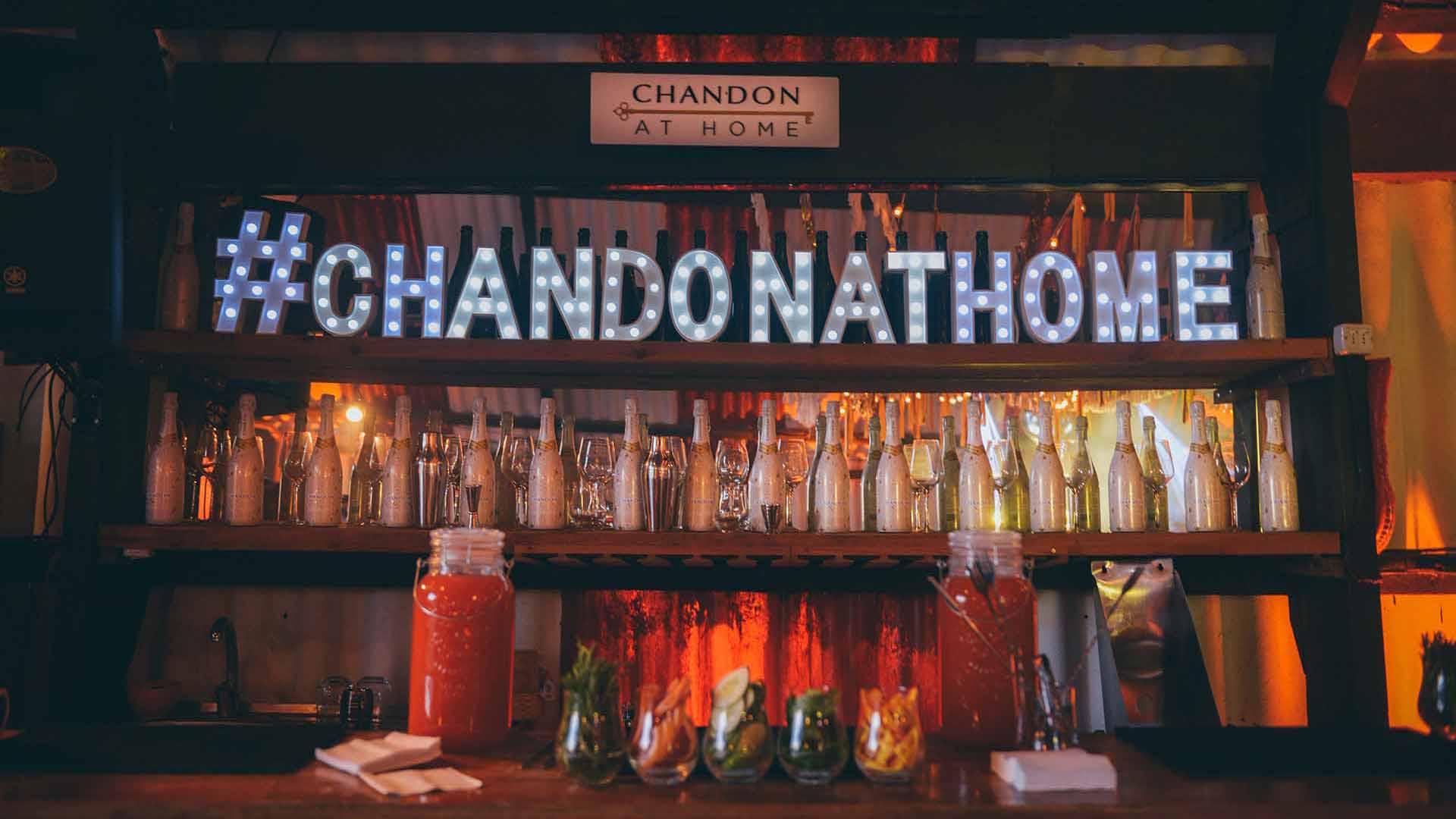 El innovador programa de la marca se encarga de llevar el festejo a tu casa: barra Chandon, música, ambientación y comida