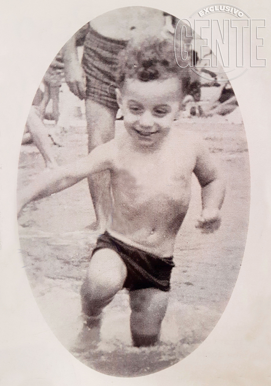 Luis Majul de pequeño. Foto: Archivo Atlántida