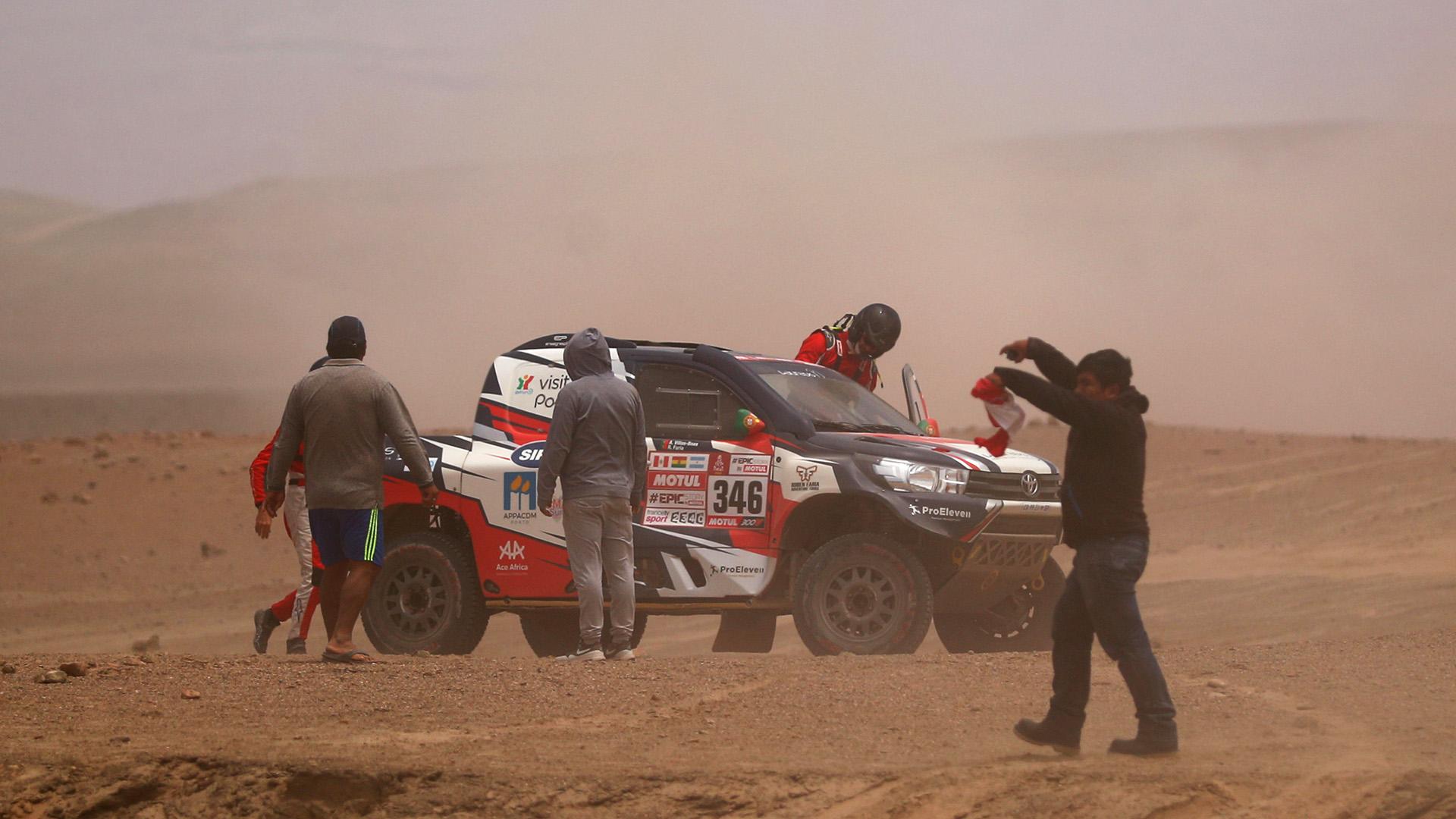 Villas-Boas chocó en las dunas de San Juan de Marcona y tuvo que ser hospitalizado (Getty Images)