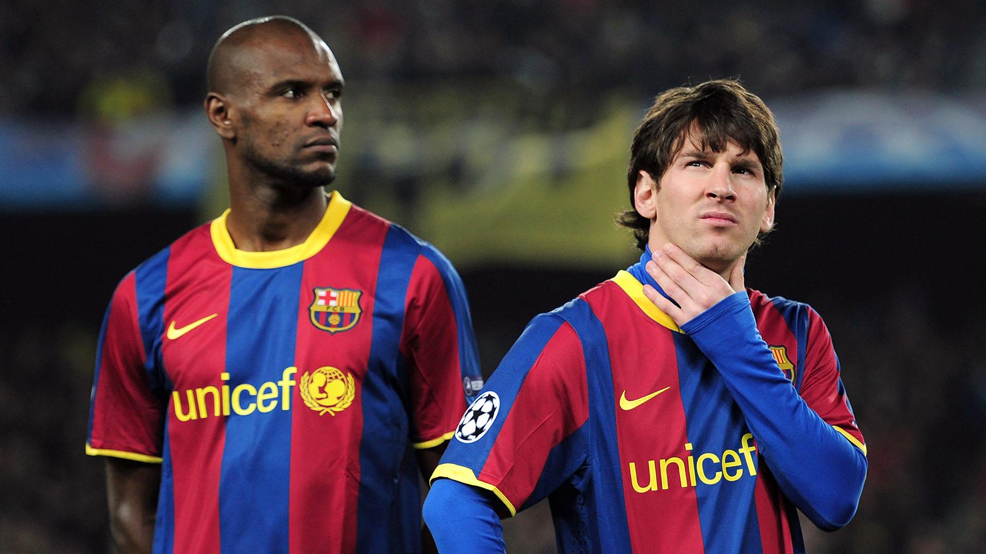 Abidal contradijo sus palabras y aseguró que Messi no tuvo malas palabras para él(Getty)
