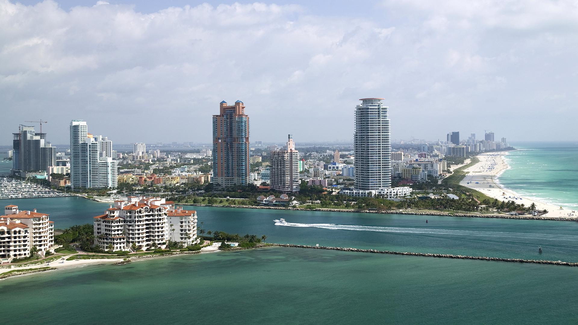 Fisher Island, uno de los lugares más caros de Miami que frecuentaba el falso príncipe (Getty)
