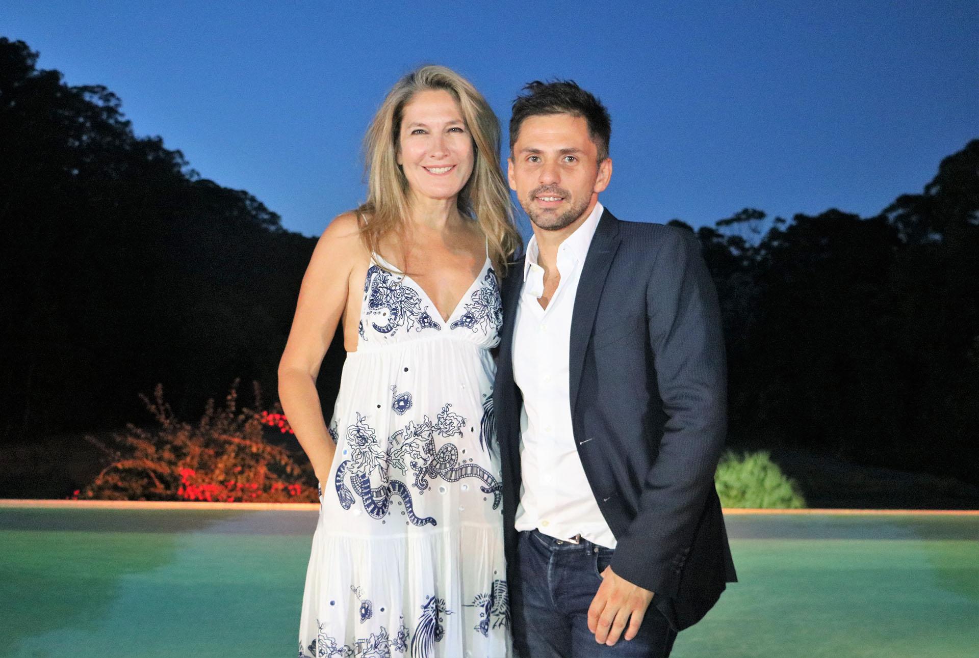 Ana Rusconi y el diseñador Fabio Toñanez