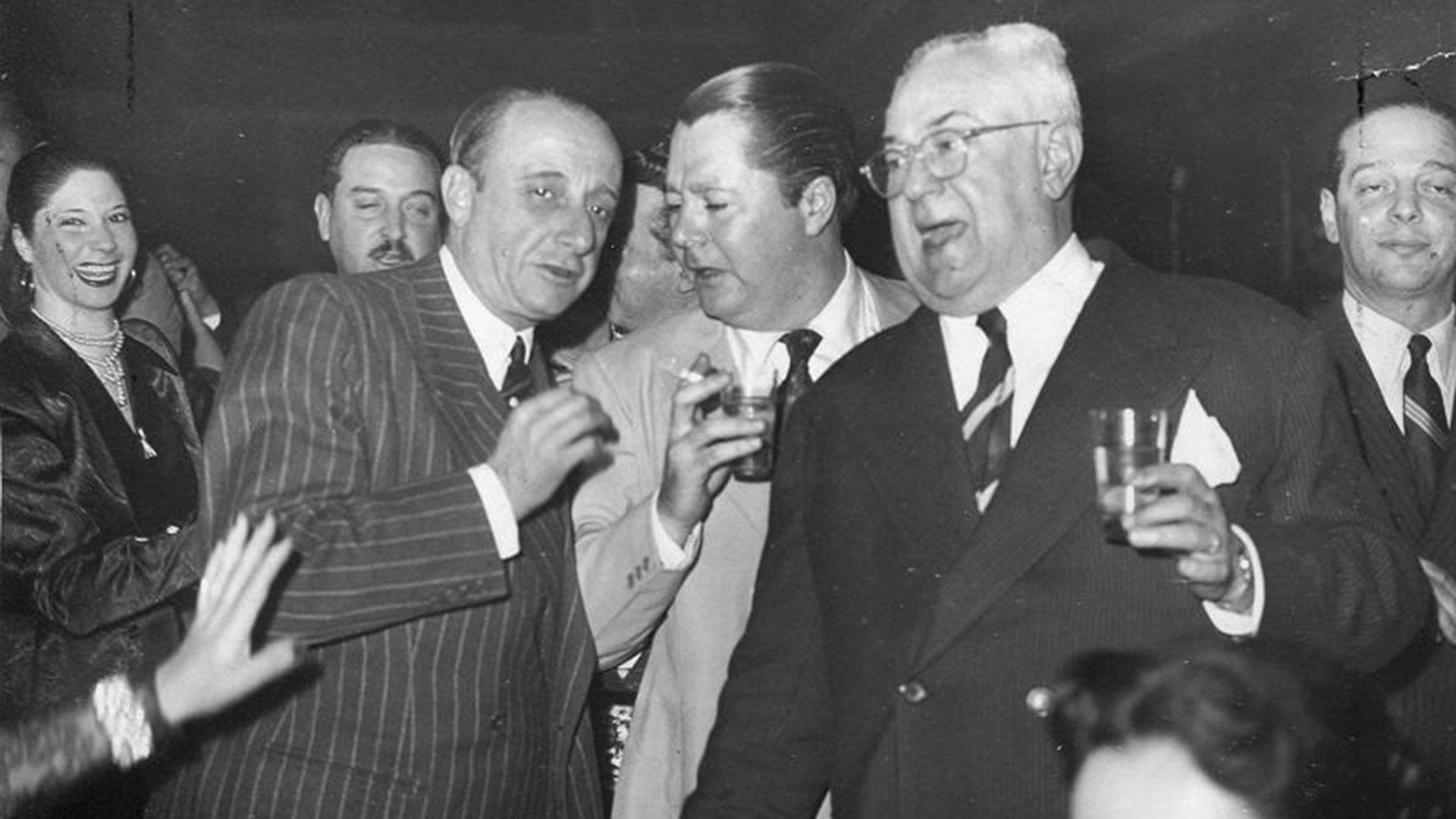 D'Arienzo, Troilo y Razzano en un festejo de Radio El Mundo.