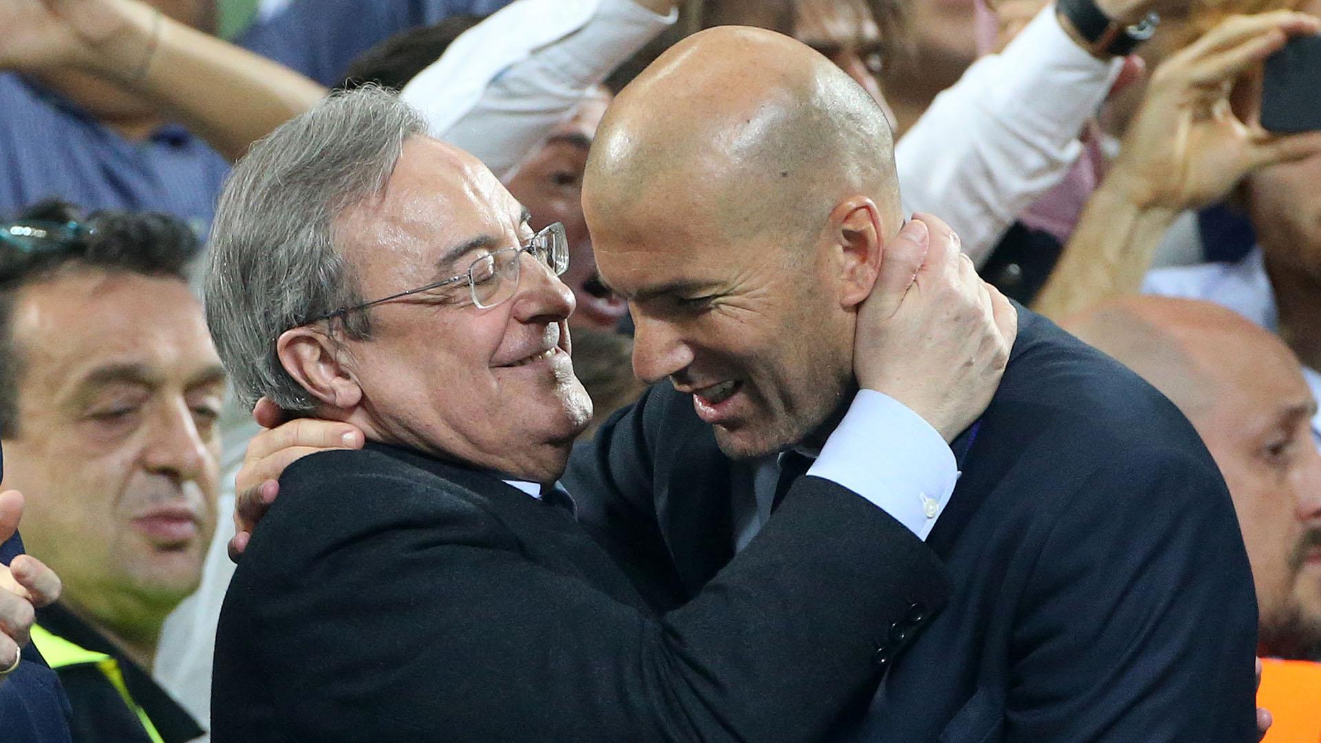La relación entre el presidente y el entrenador del Real Madrid parece no tener retorno (Getty Images)