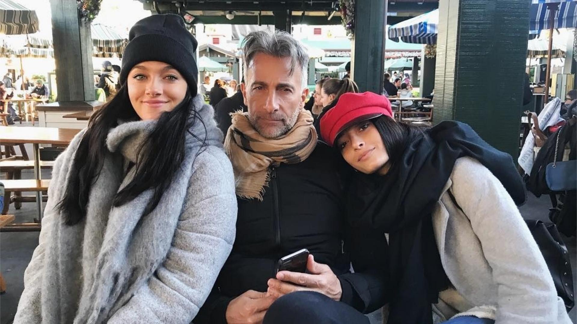 Oriana, Tiziana, y Osvaldo en Orlando.