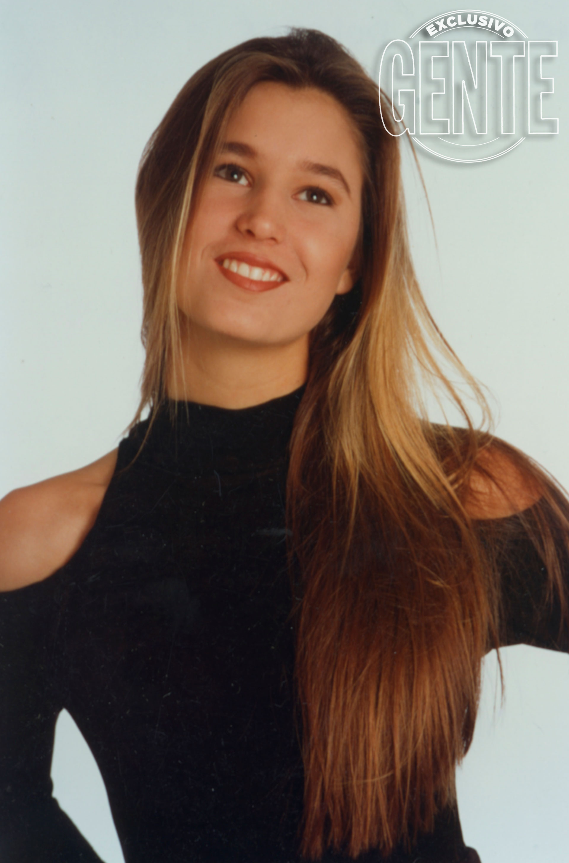 Recién terminado el secundario e iniciando su carrera como modelo. (Foto: Archivo Atlántida ©)