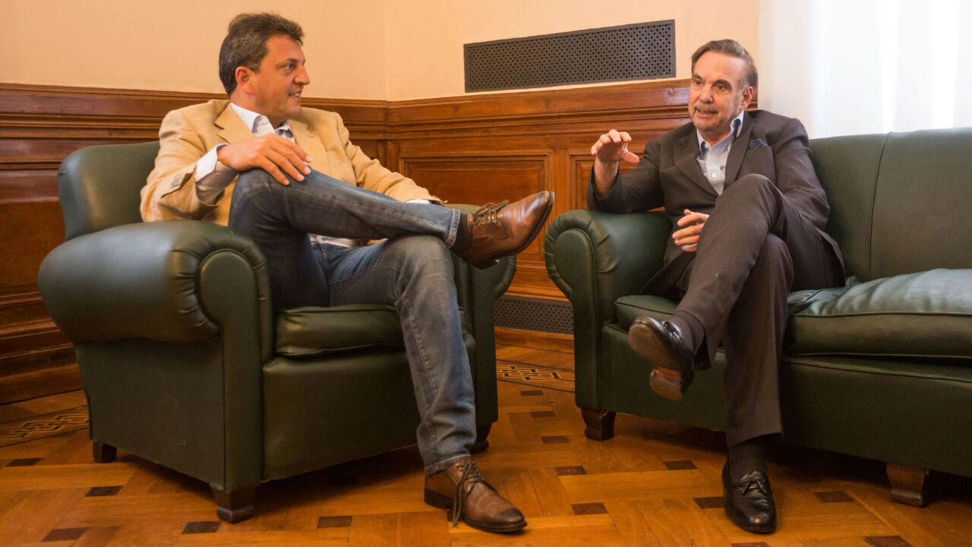 Sergio Massa y Miguel Angel Pichetto durante una reuniónhace pocos días