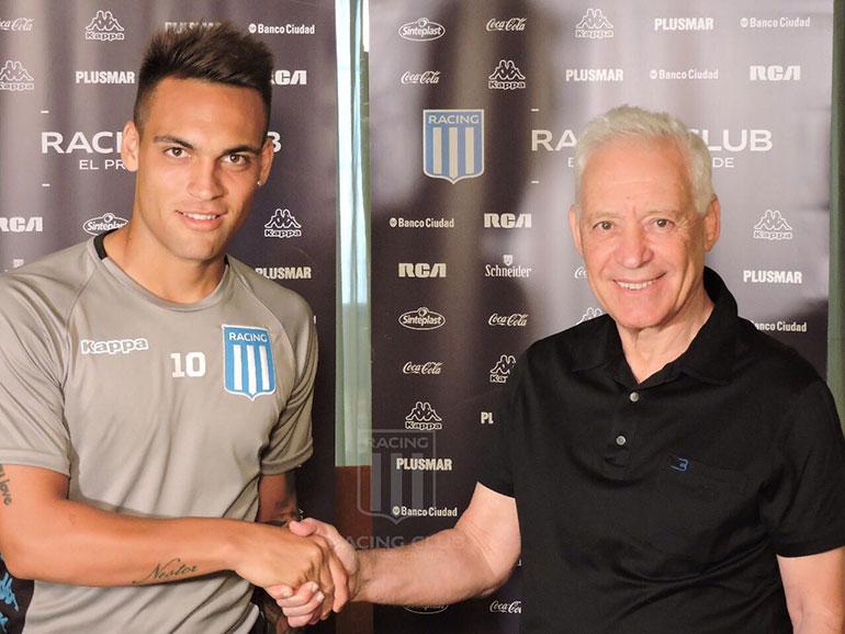 Finalmente Lautaro Martínez terminó renovando contrato con Racing