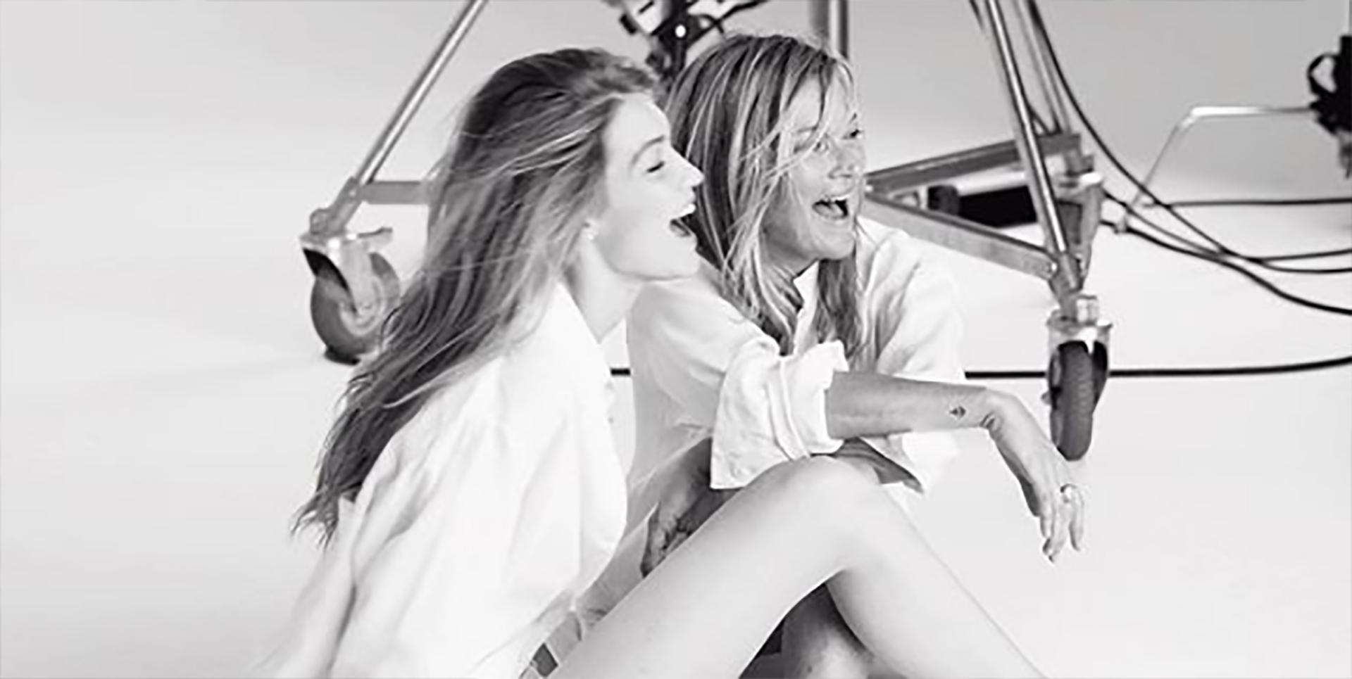 Gigi Hadid y Kate, cómplices son la nueva imagen de la marca de lujo Stuart Weinztman