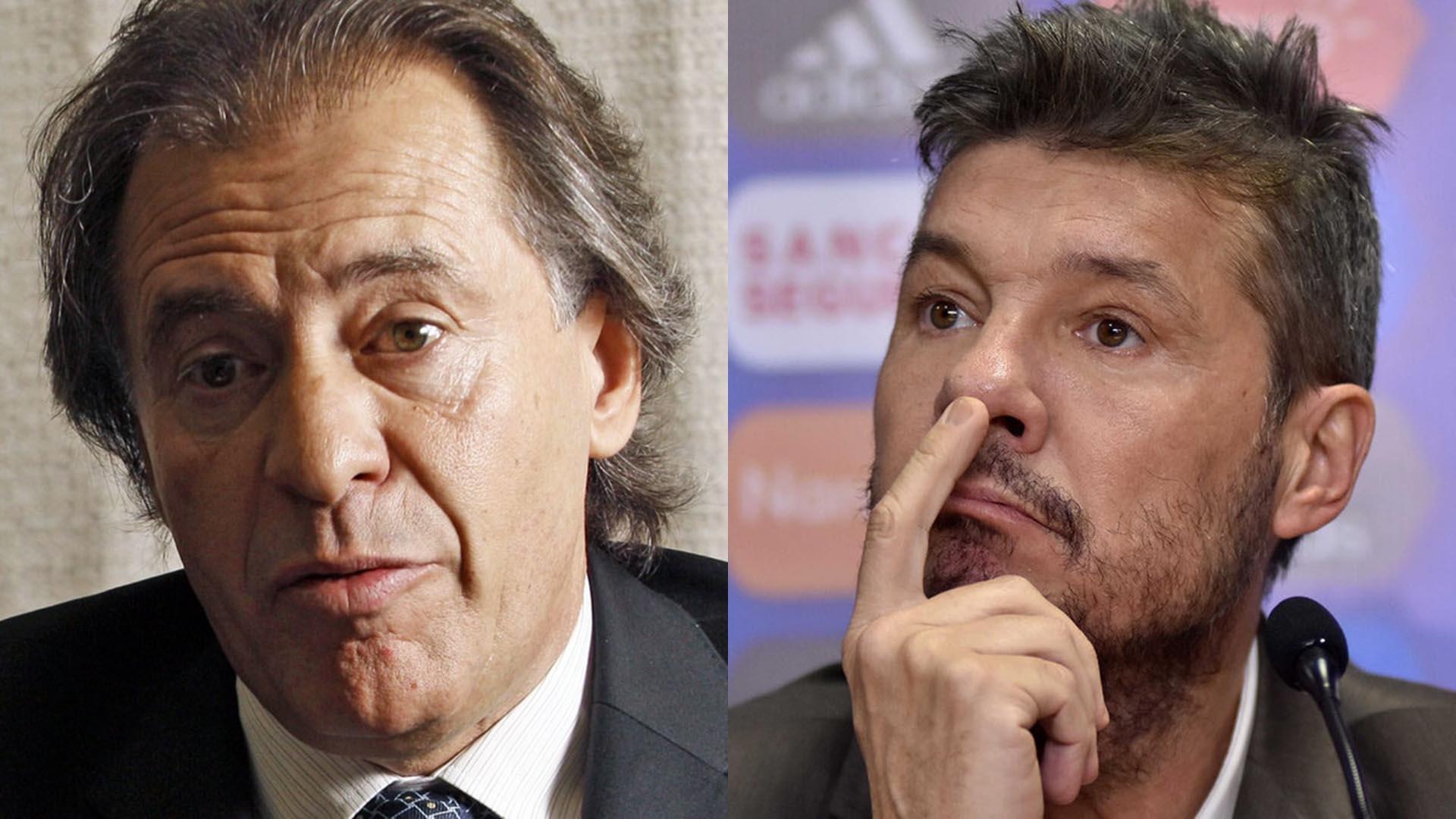 Cristobal López y Marcelo Tinelli