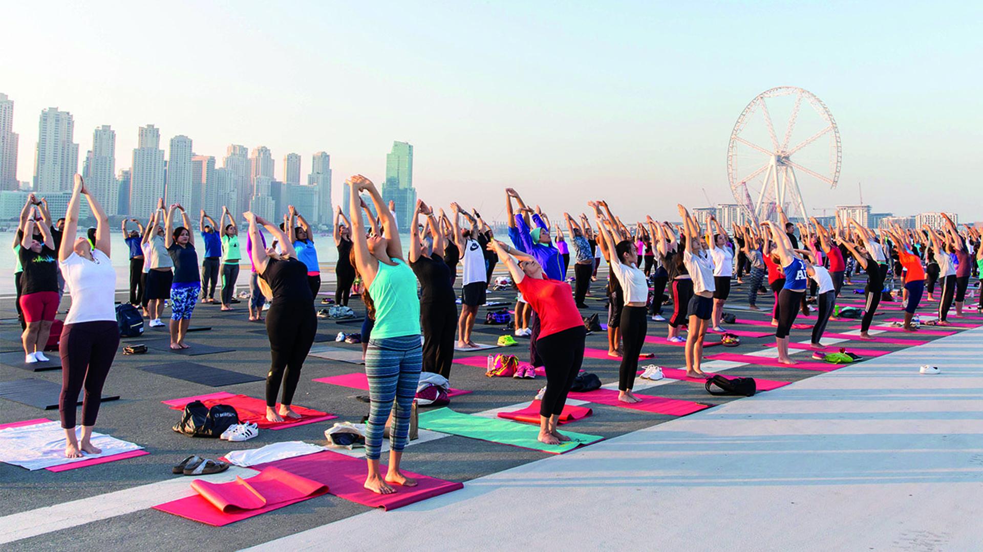 En la ciudad emiratí se realizó la mayor reunión fit del planeta (Dubai Fitness Challenge)
