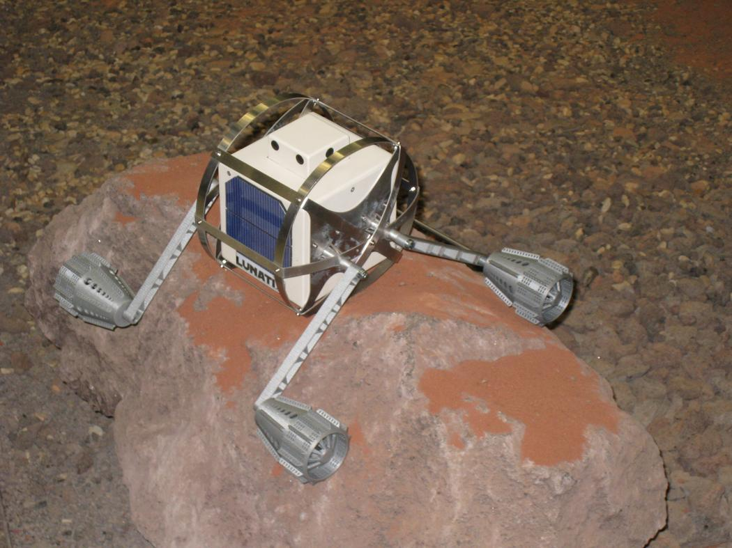 El nanobot Lunatix. Imagen: Lunatix/European Space Agency