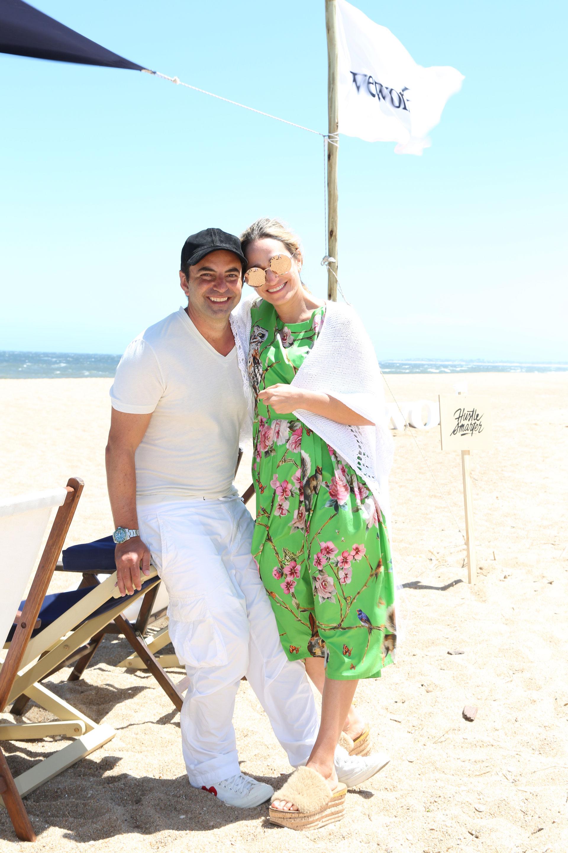 Pato Fuks, CEO de WeWork Latam, junto a su mujer Carolina fueron los anfitriones del almuerzo en La Caracola