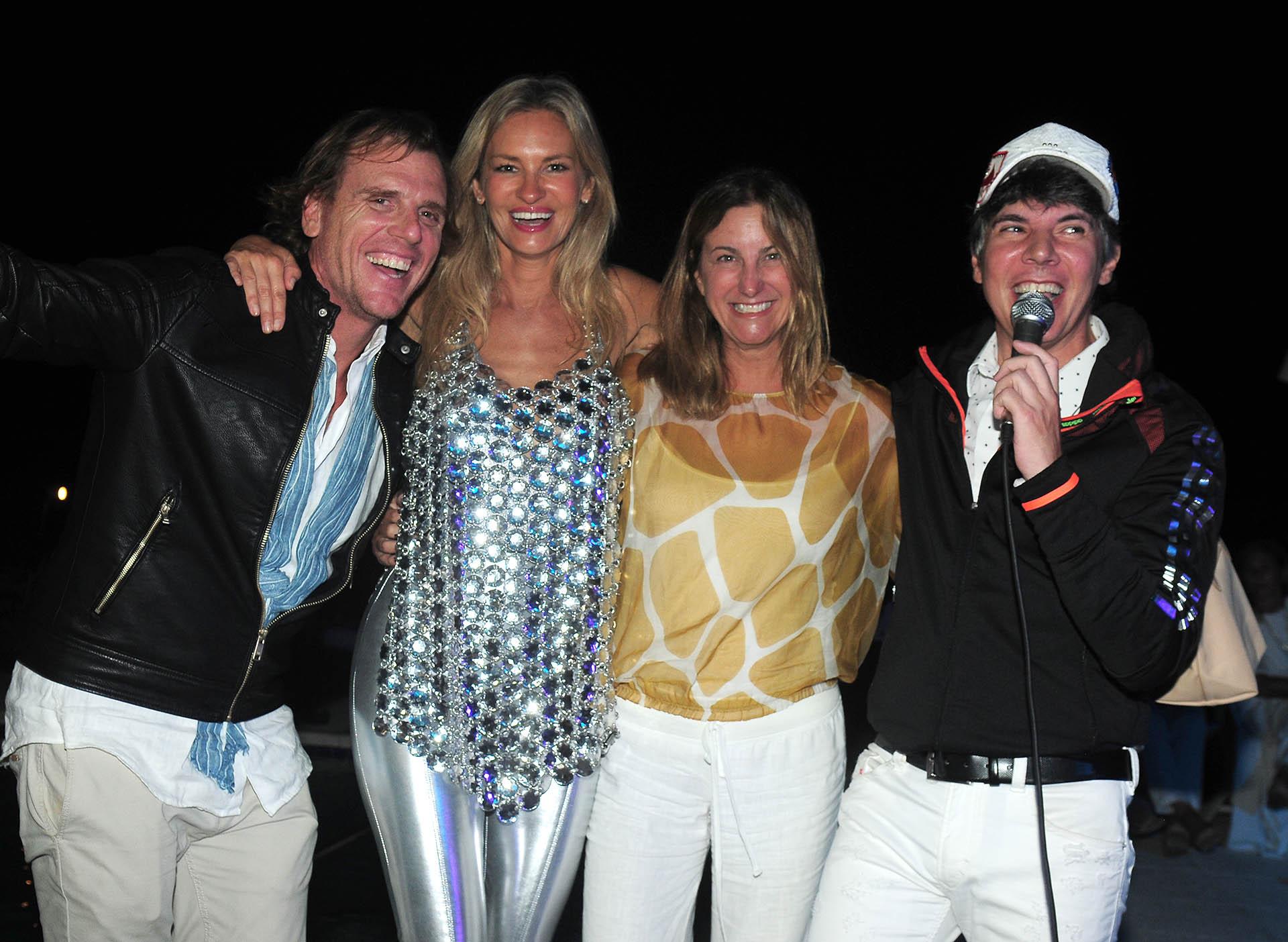 Francisco Pugliese y María Alfonso de Pugliese, quienes viajaron especialmente de Los Ángeles, junto a Lily Sciorra y Maxi Trusso