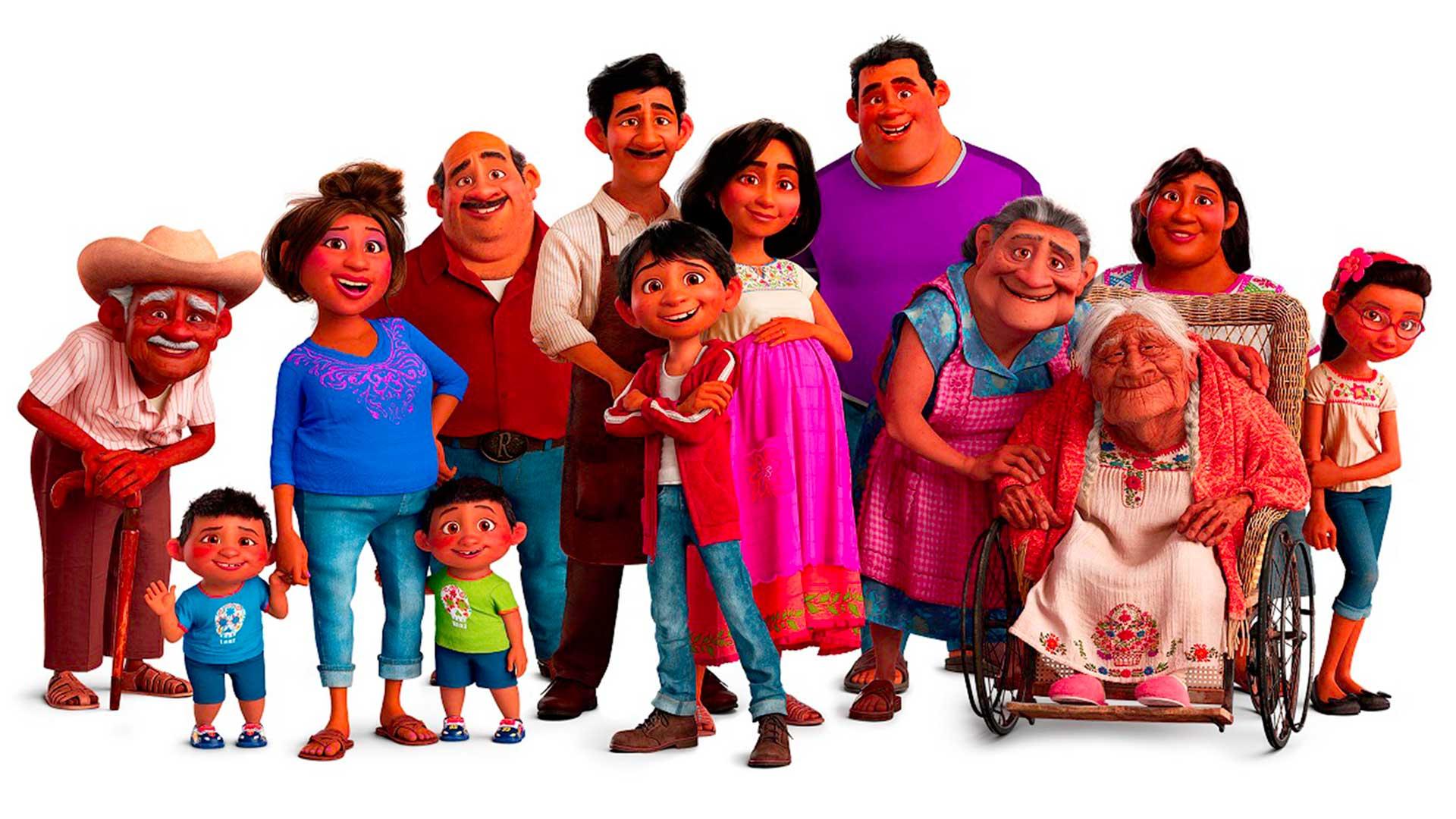 La familia del film COCO. Foto: Disney-Pixar