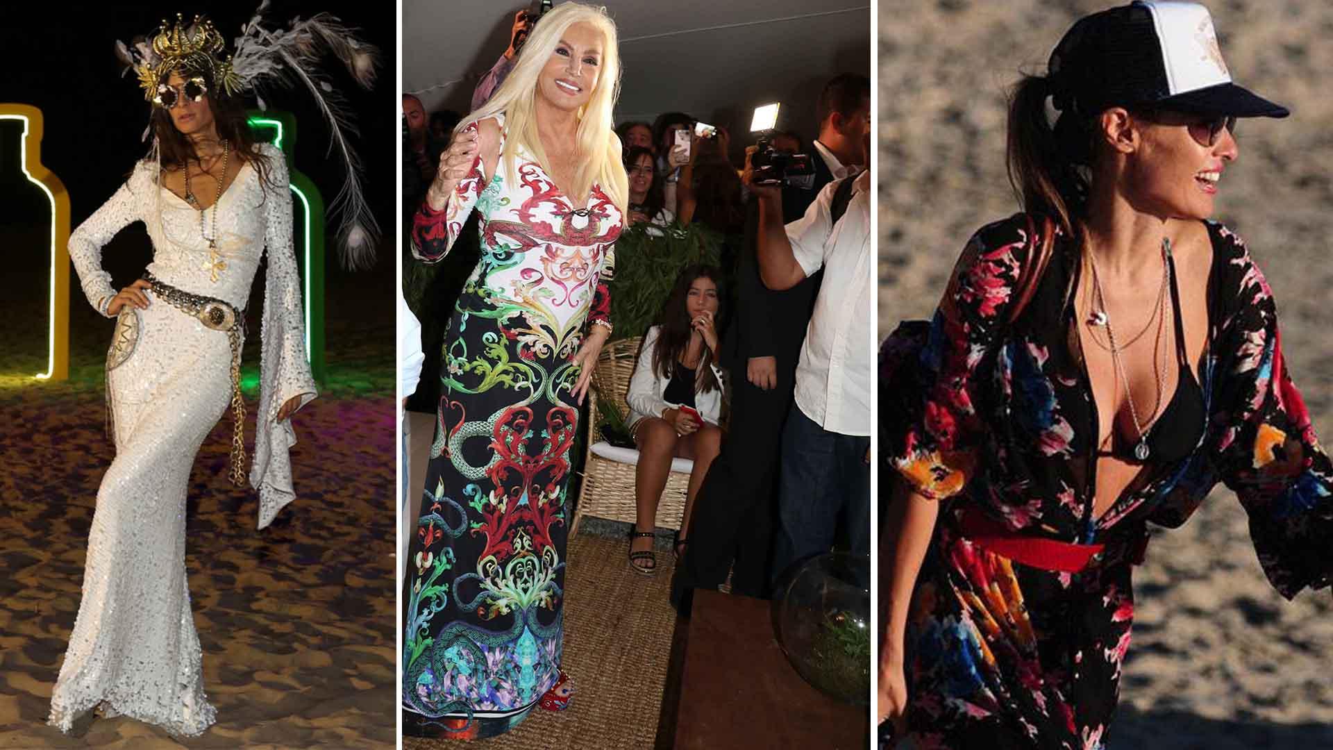 Las celebrities apuestan al más es más en las playas esteñas