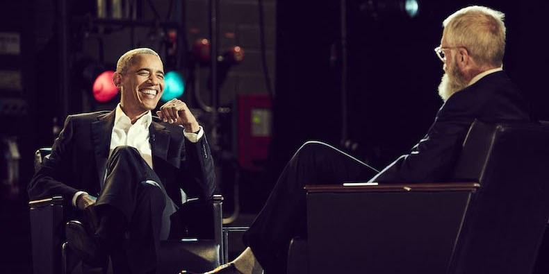 Barack Obama habló sobre sus trucos de baile con David Letterman en Netflix