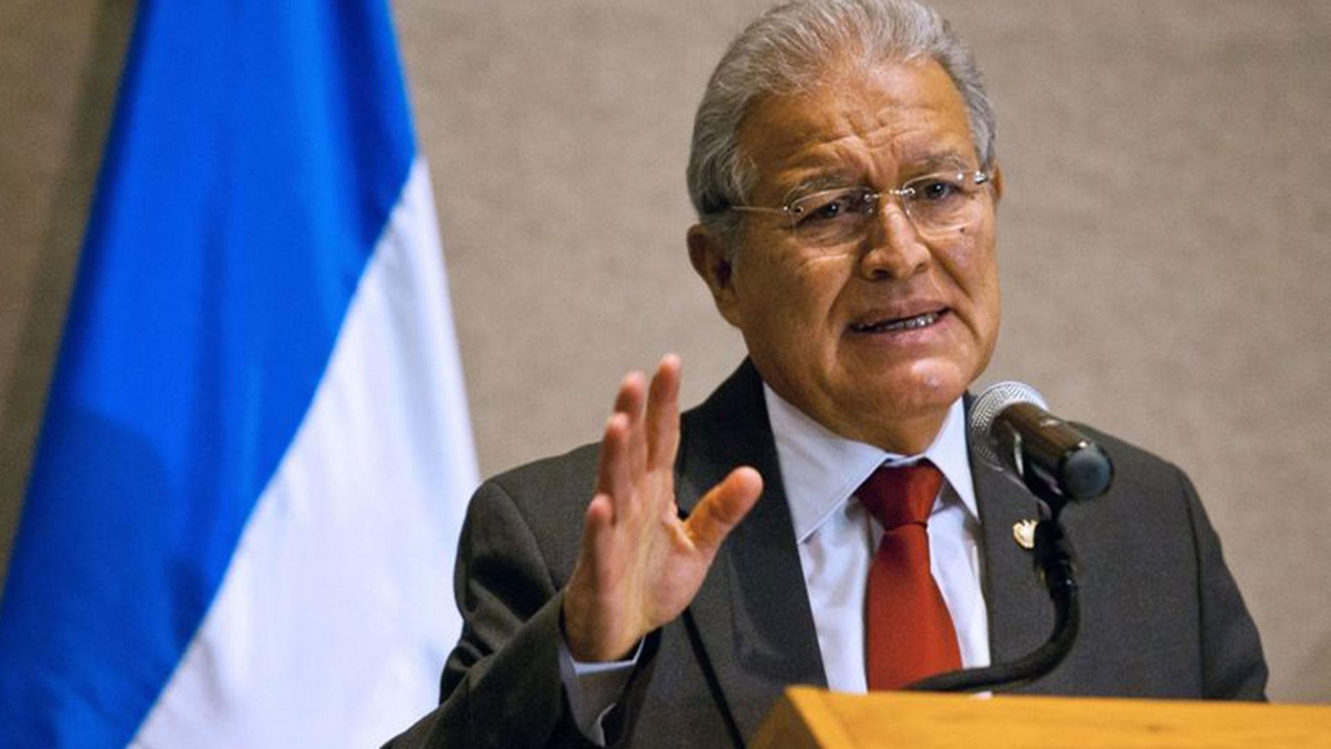 El presidente de El Salvador, Salvador Sánchez