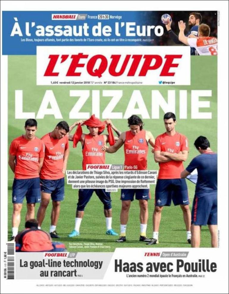 L'Equipe reveló los problemas entre los jugadores del PSG y la división del vestuario