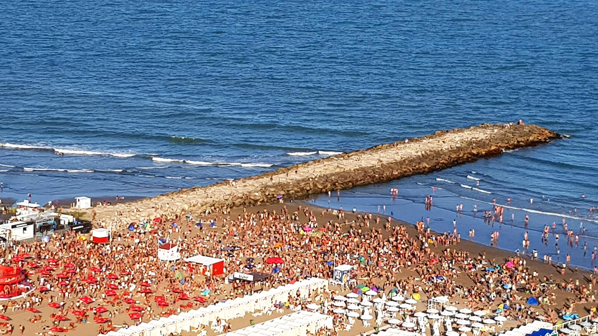 Así estaba Mar del Plata el fin de semana pasado.
