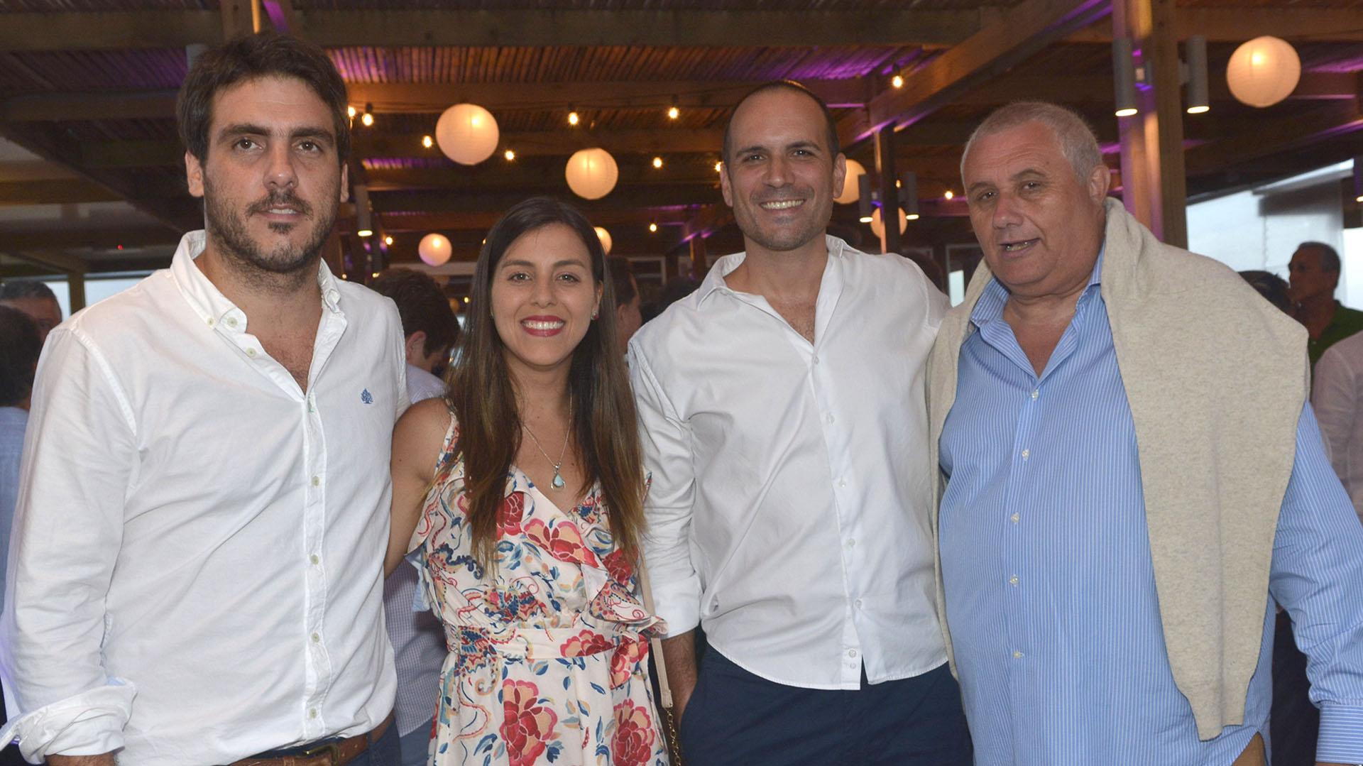 Martin Gratadoux y Sra, Sebastian Trivero y Enso Olocco.