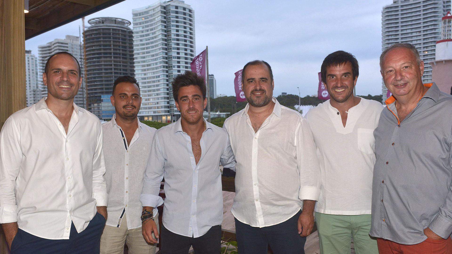 Funcionarios Sancor Seguros Uruguay y Edgardo Bovo.