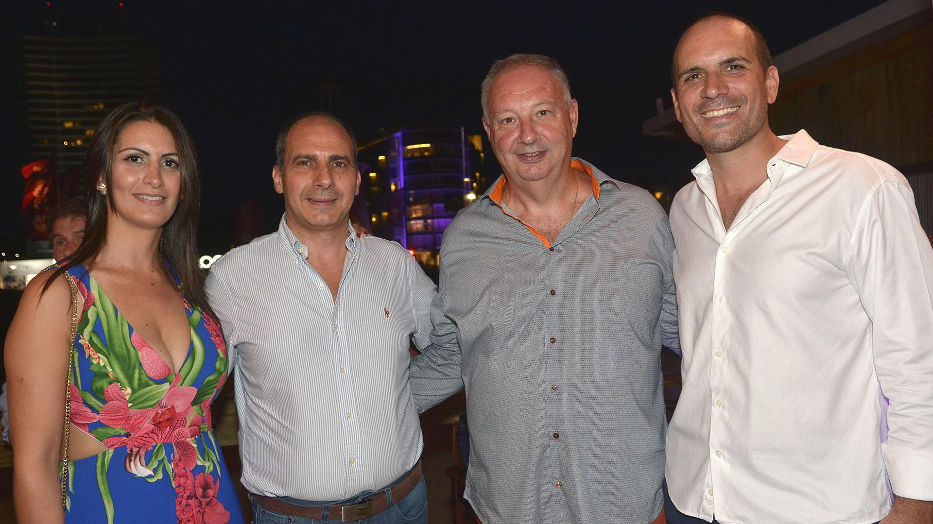 Senador Daniel Bianchi y Sra, Edgardo Bovo y Sebastian Trivero.