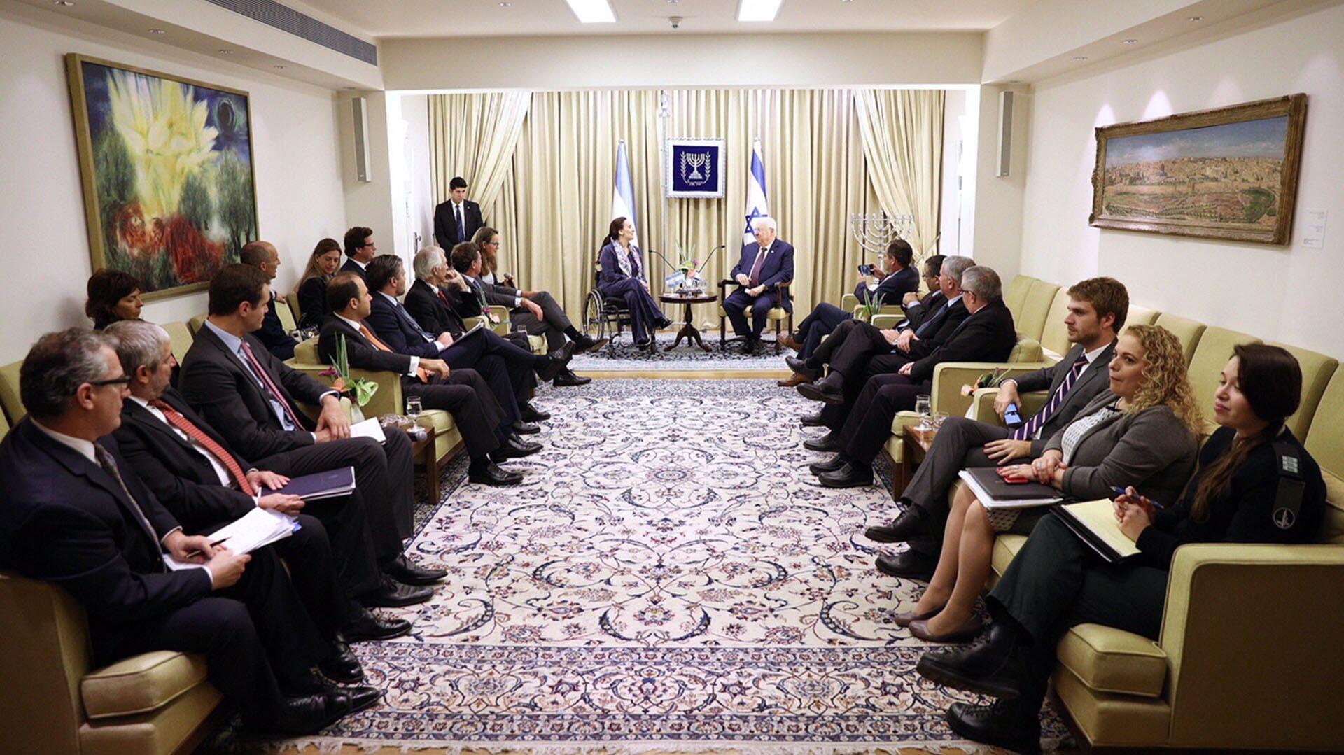 Audiencia con el presidente de Israel, Reuven Rivlin