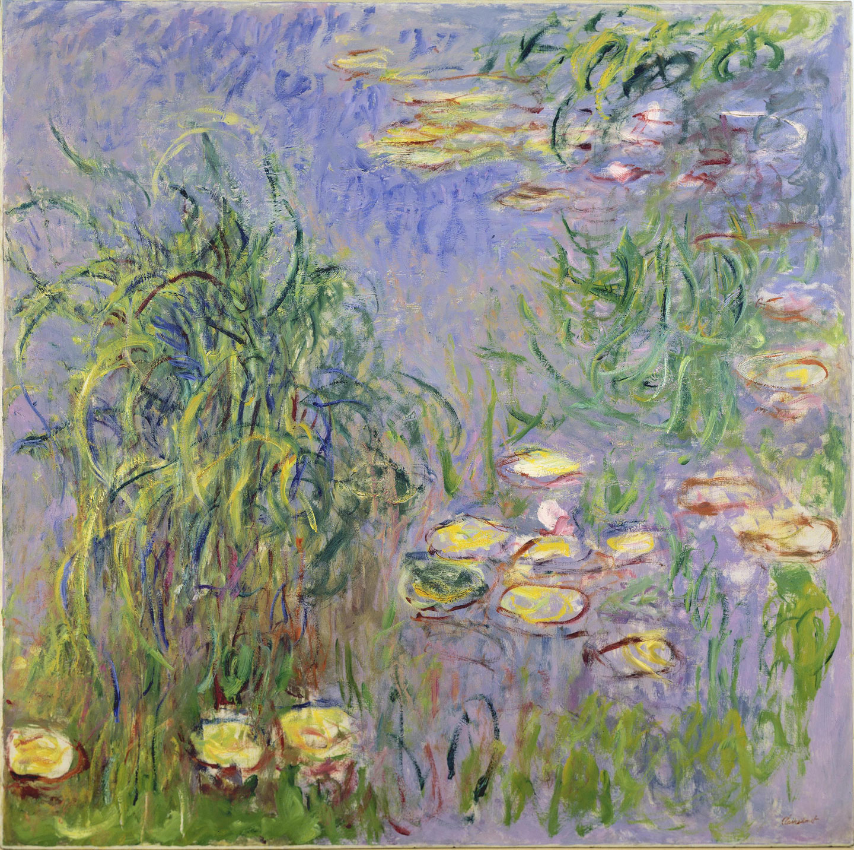 Una de las cinco pinturas de Monet que pueden verse en el Museo Chichu