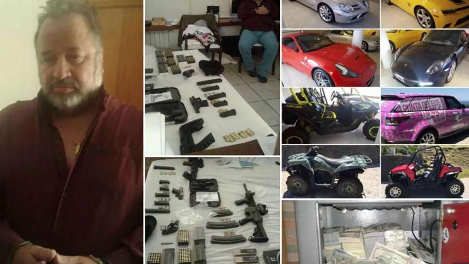 En sus ratos libres, Marcelo Balcedo se dedica a la colección de autos importados, armas de grueso calibre, municiones y cajas fuertes repletas de dólares.