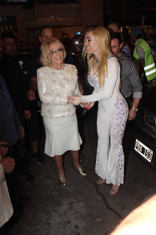 Fátima se mostró muy feliz con la visita de Mirtha Legrand