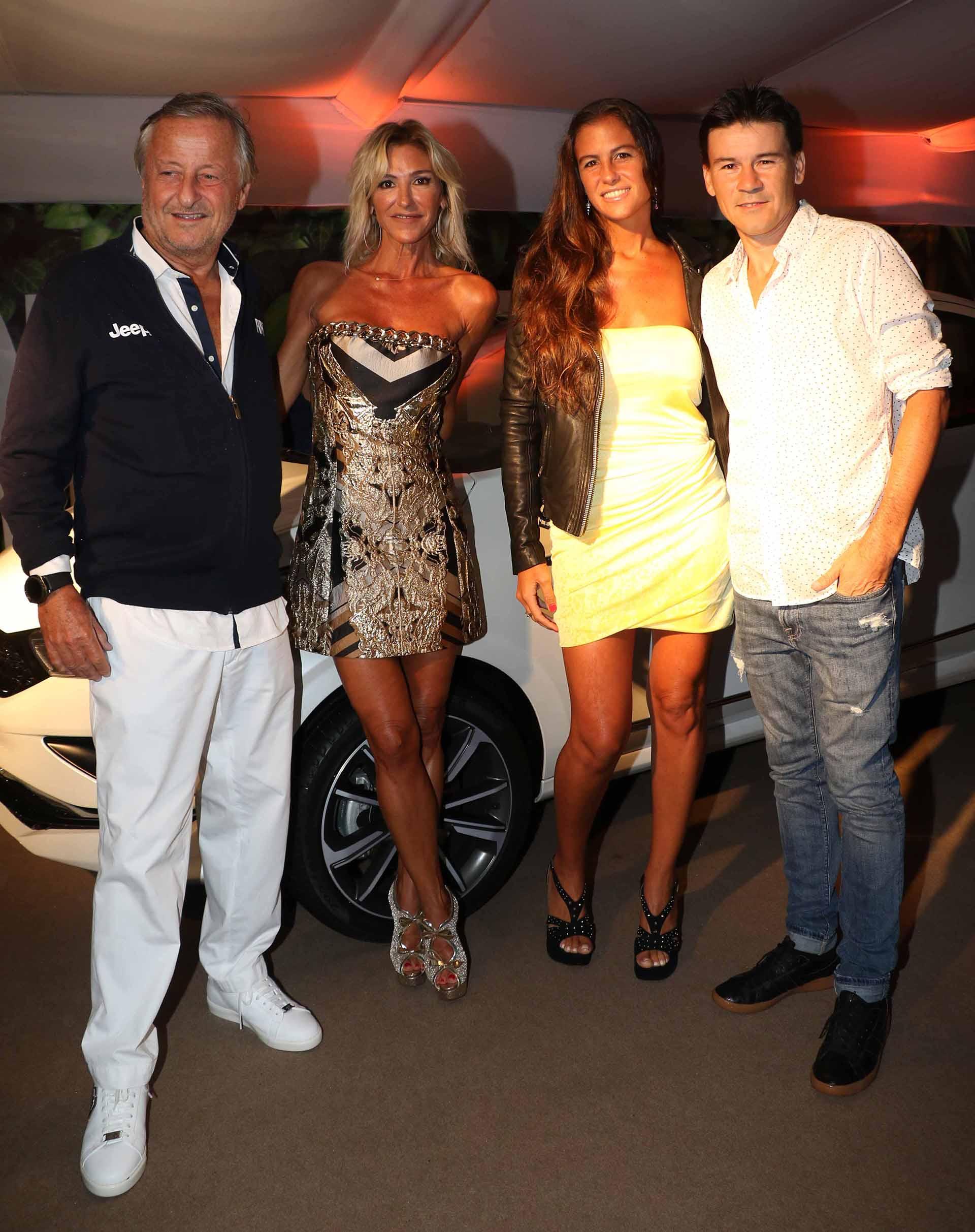 Cristiano Rattazzi, Gabriela Castellani, Guillermo Coria y su mujer Carla
