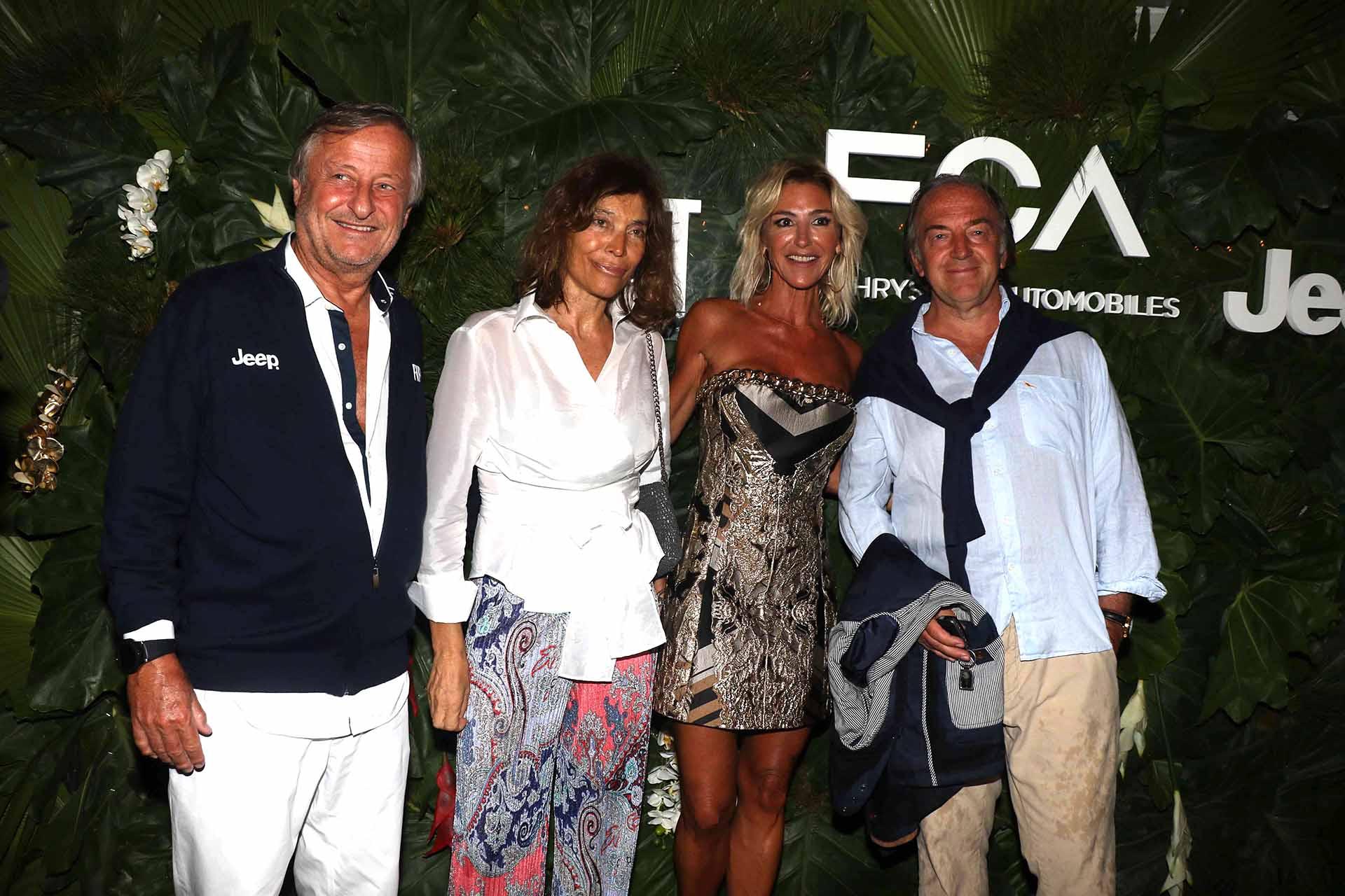 Cristiano Rattazzi y Gabriela Castellani junto a Estela y Roberto Zaldivar