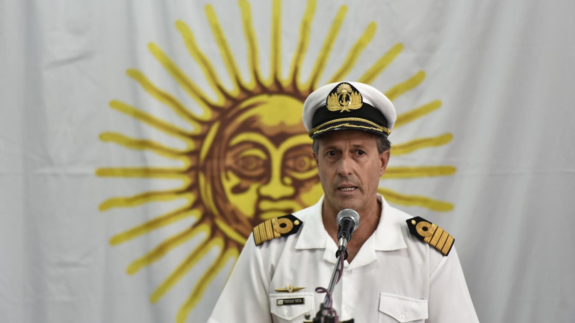 El vocero de la Armada, Enrique Balbi. (Adrián Escandar)