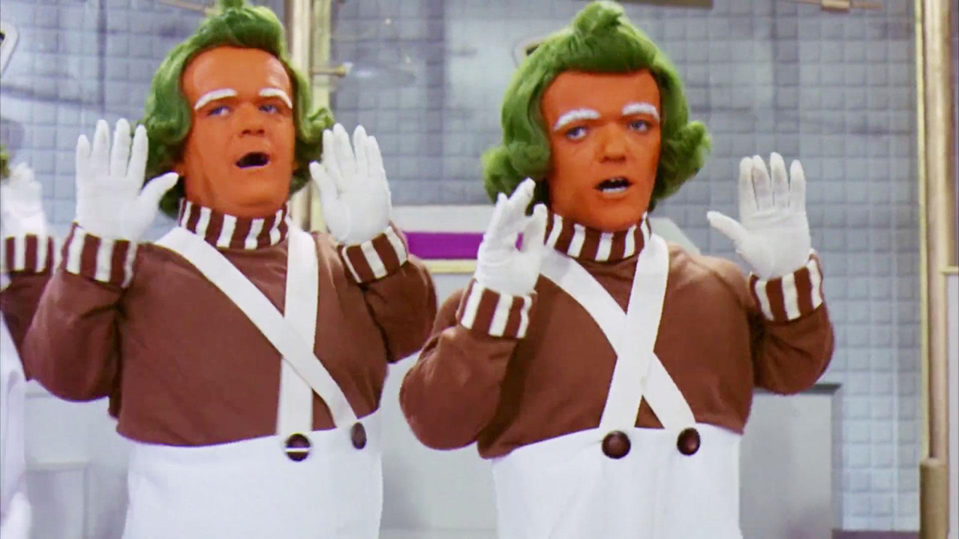 """Oompa Loompas, los personajes de la película """"Willy Wonka & the Chocolate Factory"""" de 1971"""