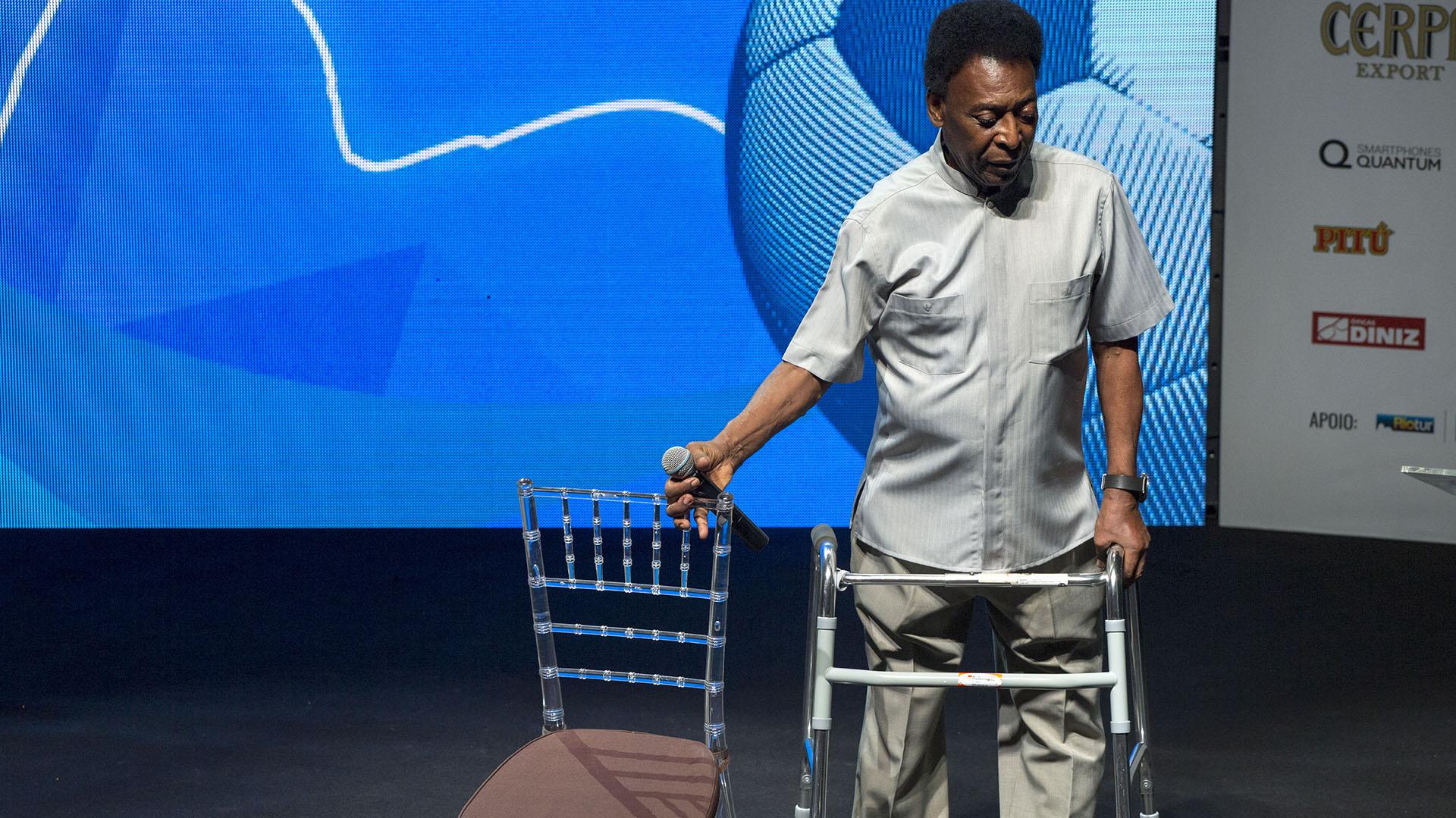 Pelé canceló su viaje a Rusia (AFP)