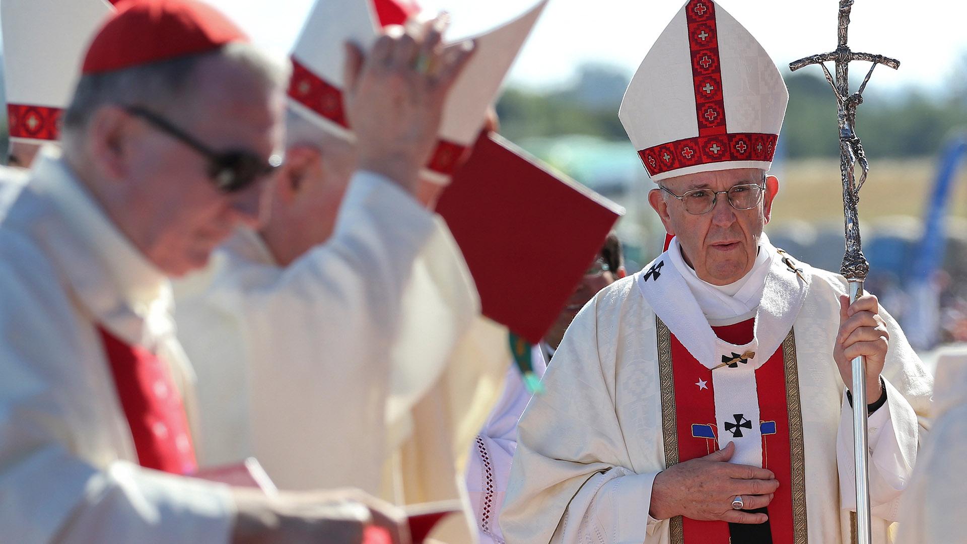 El papa Francisco ofició la misa en Temuco (Reuters)