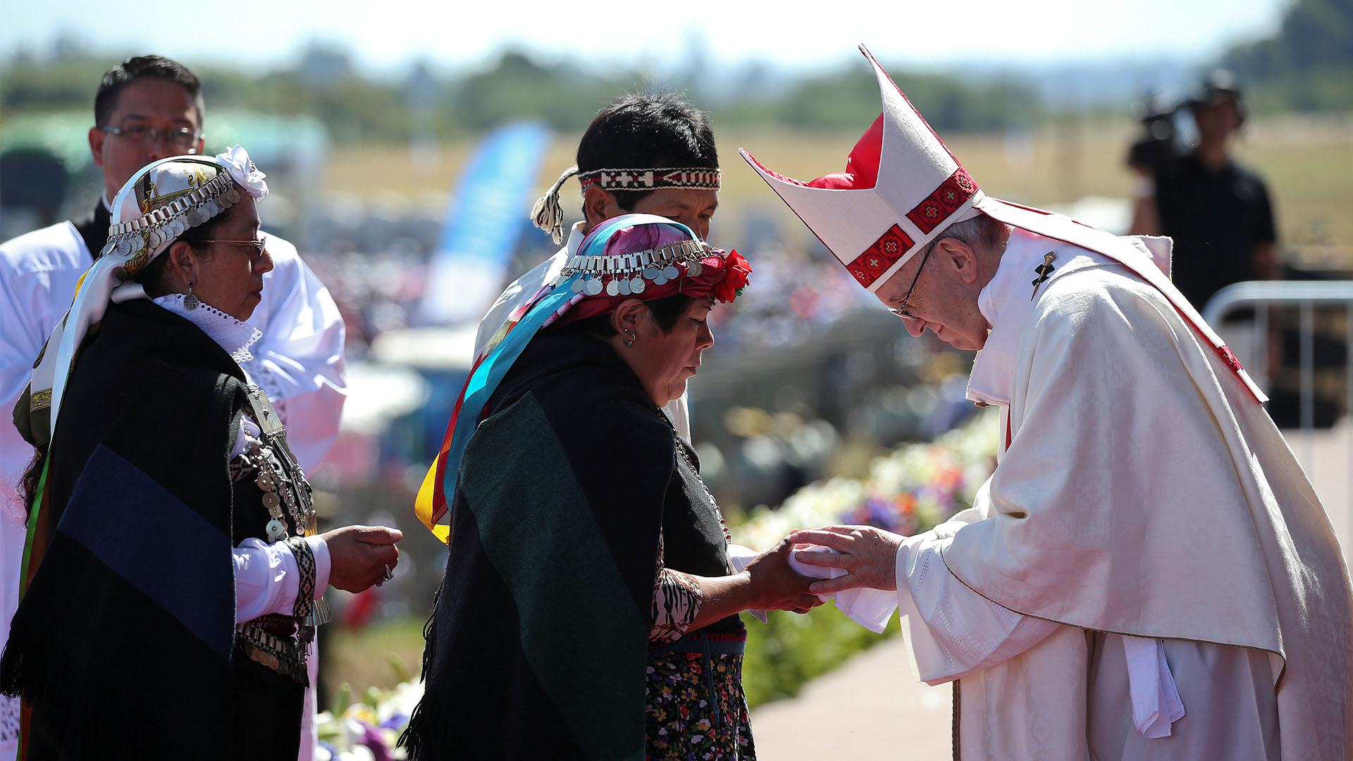 La comunidad mapuche recibió con esperanza la palabra del Sumo Pontífice (Reuters)