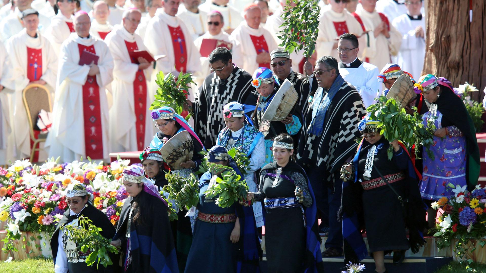 El líder de la Iglesia católica dio un mensaje de unidad (Reuters)