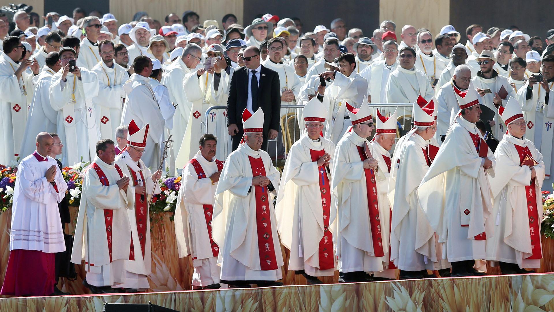 """""""La unidad pedida por Jesús reconoce lo que cada pueblo está destinado a aportar en esta bendita tierra"""", expresó el Papa (Reuters)"""