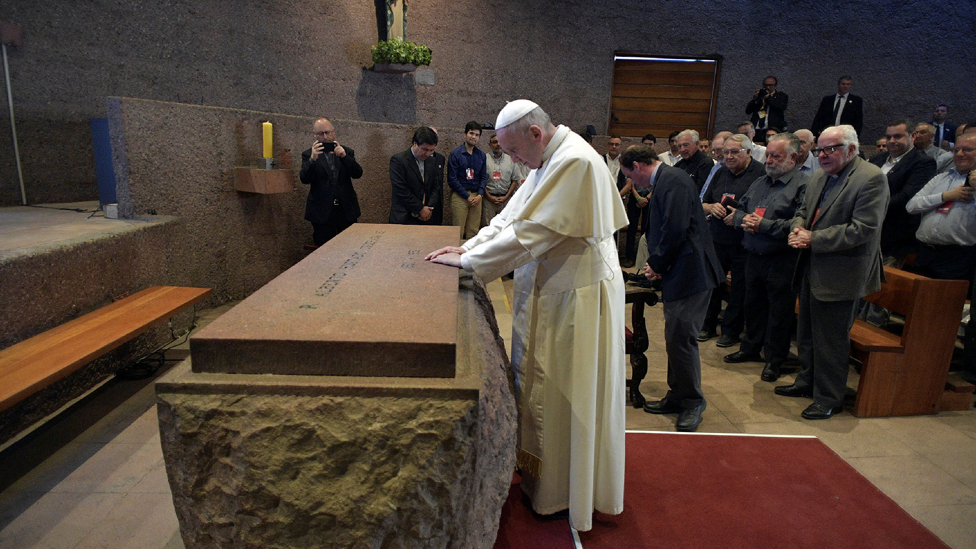 """""""La unidad reclama que nos escuchemos y principalmente que nos reconozcamos"""", subrayó el Papa (Reuters)"""
