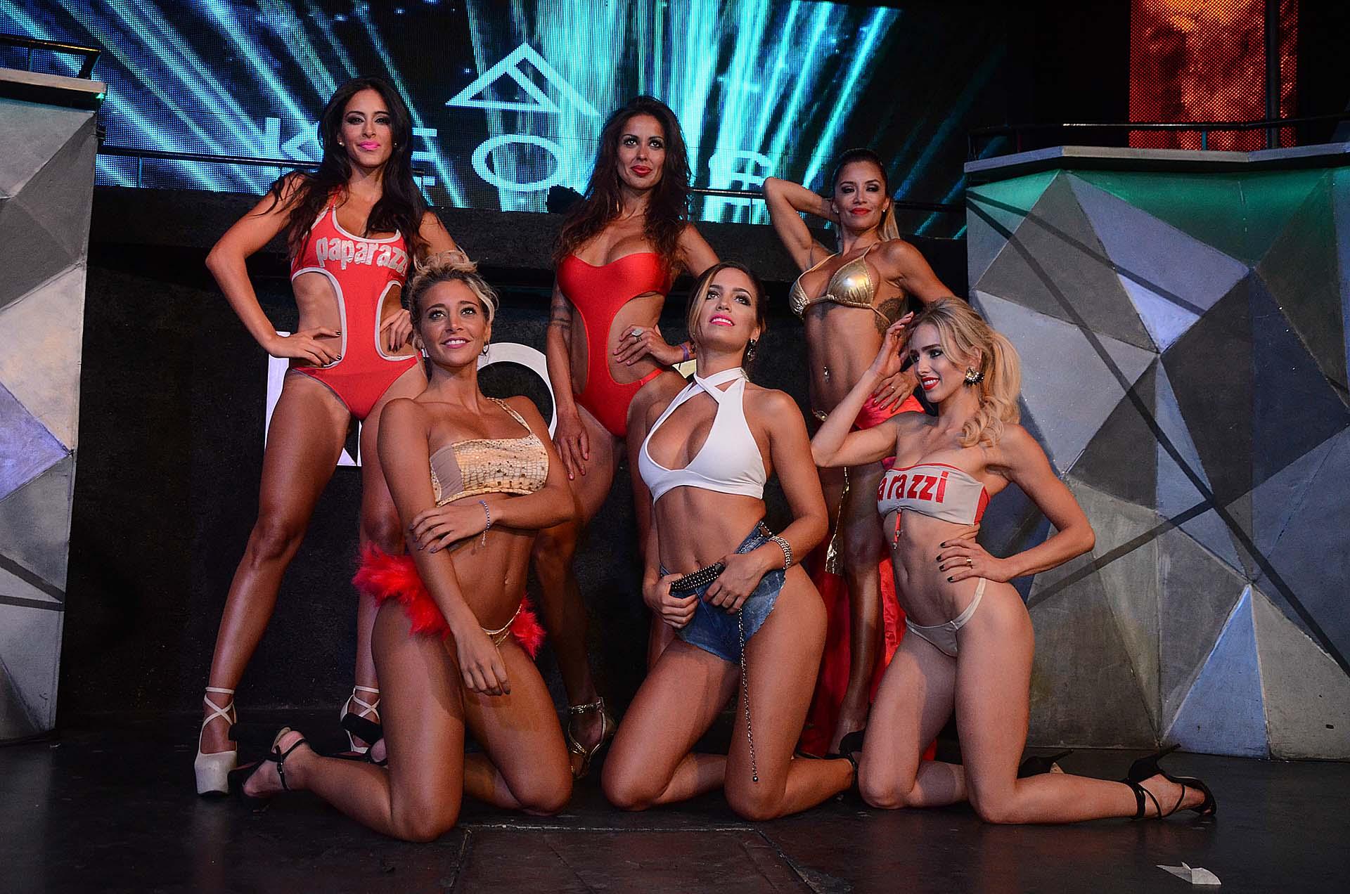 En la fiesta de Paparazzi, desfilaron Celeste Muriega, Pamela Sosa, Claudia Ciardone, Sol Pérez, Rocío Robles y Belén Pouchan