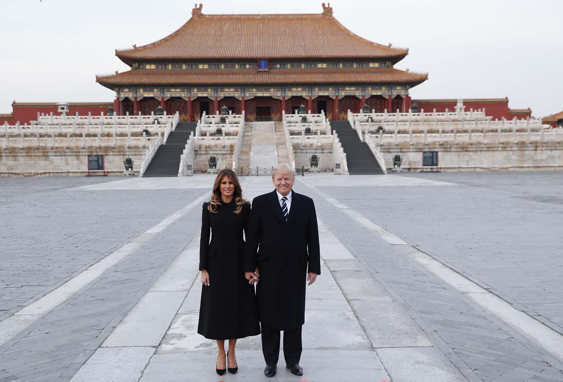 8/11/2017 El Presidente y su esposa durante una visita de Estado en Beijing, China